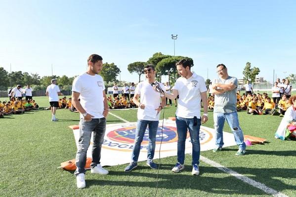 Totti, visita nella propria scuola calcio al centro sportivo Longarina
