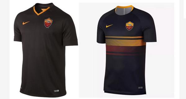 e6ee9d41ee3f8a AS Roma, nuove anticipazioni sulla maglia da trasferta 2019/2020: il kit  sarà nero con i bordi gialli (FOTO)